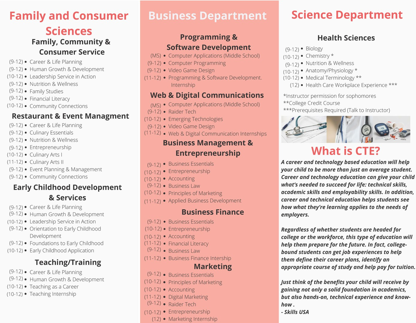 Career and Technical Education Brochure page 2